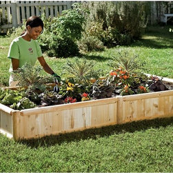 Hardwood Raised Bed Garden Kit - I love to use raised beds for my garden; they make all the tasks so much easier. They're great for strawberry plants, vegetable gardens, flowers — the list is endless. If you are handy, you can make your own, but this is a beautiful example of a raised bed kit that you might like as well.