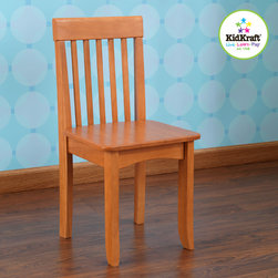 kids chair - Avalon Single kids Chair - Honey - Kids enjoy relaxing with our Avalon kids Chairs, Our heirloom quality avalon Chair is crafted form solid wood to endure rigorous use through childhood.