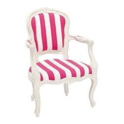 Stripe Ooh La La Armchair - Pink stripes perk up any interior! I'd use these as dining chairs or a comfy perch at my desk.