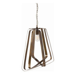 """Arteriors - Arteriors Home - Adele Vintage 1 Light Pendant - 42491 - Arteriors Home - Adele Vintage 1 Light Pendant - 42491 Features: Adele Collection PendantAntique ColorAntique Brass FinishBrass in MaterialSwivel bandsHardwire required in Plug Some Assembly Required. Dimensions: 19"""" W X 1.5-18"""" D X 25"""" H"""