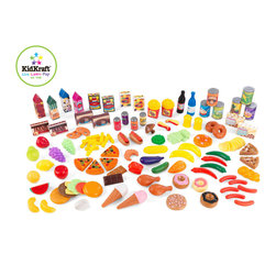 Kidkraft - Kids Furniture Tasty Treats 125 Piece Play Food Set From Vistastores - Our new 125 piece plastic food set will please every little cook! From canned goods, to sodas, to snacks and veggies, this set has something for everyone! No assembly required Plastic.