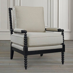 Pippa Accent Chair by Bassett Furniture - Available in fabric only.