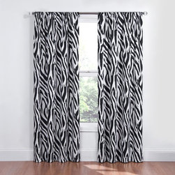 Eclipse - Eclipse Kids Safari Blackout Window Curtain Panel - 12703042X063BAW - Shop for Window Treatments from Hayneedle.com! Transform both your sleep and your space with the Eclipse Kids Safari Blackout Window Curtain Panel. This blackout curtain is perfect for any room any time of day. Independently tested to provide superior light-blocking (99% blockage of intrusive light!) noise-reducing and energy-saving benefits. Eclipse curtains feature a patented Thermaback process which means peace quiet and perfect light control. Whether you're a daytime sleeper a home-theater aficionado or your kids need consistent bedtimes you'll love Eclipse curtains. And thanks to their foam-back technology you can achieve not only the light and sound benefits but also maintain a stylish decor as these curtains drape and flow. Eclipse your old curtains with progressive technology. Machine-washable. Includes one curtain panel. Curtain rod sold separately.