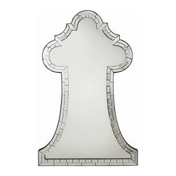 Arteriors - Ivette Mirror - Double rows of etched mirror tiles create a mosaic frame around this large scaled classically shaped mirror. The piece has graceful curves, plenty of sparkle, and demands to be noticed. Features a security cleat attachment.
