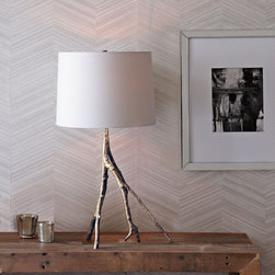 Branch Table Lamp, Polished Nickel - This lamp is elegant and cozy at the same time.