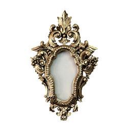 Fancydecor - Decorative gold wall mirror frame in high density Polyurethane - Small Oval Mid Century Mirror Frame