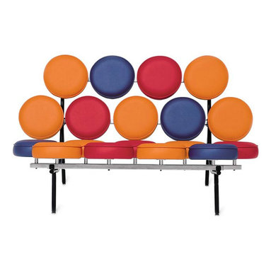 Nelson Marshmallow Sofa - Multi - Designed by George Nelson for Herman Miller in 1956, the fun style of the Marshmallow Sofa is more popular than ever. I just love it in these eye-popping colors.