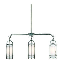 """Hudson Valley Lighting - Hudson Valley Lighting 8533 Three Light Island / Billiard Fixture Elmir - *Portland Collection 3 Light Island / Billiard Fixture32"""" W x 20""""-56"""" H3-100w Medium Base (Not Included)Supplied with swivel for sloped ceilings and comes with four lengths of stem (3"""", 6"""", 12"""", 18""""), used separately or in combination to achieve up to 36"""" total stem length."""