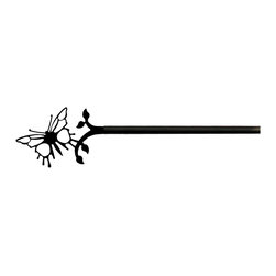 Village Wrought Iron - 38 Butterfly Curtain Rods - 38 Butterfly finely crafted curtain rods are available in four sizes. 21-35 inch, 36-60 inch, 61-112 inch and 113-130 inch. Rod lengths do not include the Silhouette or Finial ends. Standard end bracket mounting hardware and screws are included unless an alternate rod mounting hardware is selected. Our curtain rods are decorative, functional, long lasting and handcrafted in the USA using the finest materials and time- tested methods of craftsmanship. Quality and durability are priorities for our products. Our coated products have one of the most long-lasting finishes available - a flat black baked-on powder coated finish that will last for many years. Silhouette approximate size is 4 1/2 Inch W x 3 Inch H. Rod diameter is .50 inch. Silhouettes are welded in place for added security. Standard Center Support mounting hardware and screws are included for curtain rods 61 inches and longer unless alternate mounting hardware is selected. Supporting American Workers where the timeless trade of ironworking can still be found.