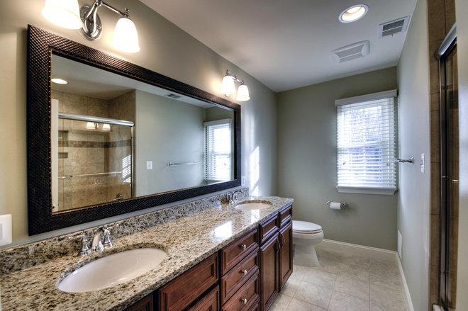 Modern Bathroom Mirrors by Kirkpatrick's Construction, LLC.