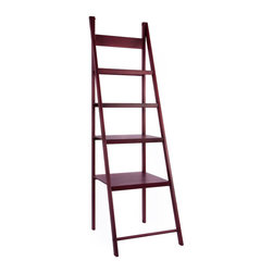 Ladder Bookcase - There's always a need for more space. Go up with the Ladder Bookcase. The shelves provide the ideal backdrop for large and small items alike. Place plants, books, and other decorative accents to create the look you want.