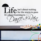 ColorfulHall Co., LTD - Wall Mural Life Isn't about Waiting for the Storm to Pass - Wall Mural Life Isn't about Waiting for the Storm to Pass