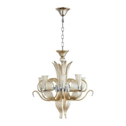 Cyan Design - Juliana Six Light Chandelier - Juliana six light chandelier - cognac