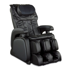 Cozzia - Cozzia Feelgood Series Shiatsu Massage Chair - The Cozzia 16028 Zero Gravity chair elevates the knees to the level of the heart, and brings the spine parallel to the ground. By eliminating all vertical pressure on the vertebrae, the connective tissues surrounding your spine are able to relax making massage far more effective. The 16028 automatically reclines and the back and footrest can be adjusted independently. It scans your body to determine your height and adjusts the massage area to fit. Massage features include Shiatsu, kneading, clapping, tapping, rolling, and vibration. There are five pre-programmed massages with adjustable speed, strength and intensity. Partial massage options are also available. The seat has a built-in vibration massage and heat therapy in the lumbar area. The invigorating air pressure system features 22 airbags in the back, seat, calves, feet & neck pillow to massage the entire body. Massages can be customized and the remote will even turn off the chair when the massage is complete. This massage chair is available in a durable black synthetic leather finish. Key Features: This is exactly the same chair previously sold as Berkline, Shiatsu massage, kneading, tapping, rolling, vibration, air massage, Zero Gravity position significant enhances the effectiveness of massage, Five pre-programmed massages with customizable strength, speed and intensity, Invigorating air pressure system in back, seat, calves, feet and neck pillow areas, Easy to use LED remote allows you to adjust the massage area, speed and rollers, Angle of the backrest and footrest adjust automatically, One touch Power Recline button reclines the chair to your favorite position, 15 minute massage programs with an automatic shutoff, Over all body comfort with 22 air bags to assist the air pressure system, Relaxing heat therapy in the lumbar areas of the back,