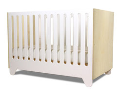Spot on Square - Hiya Crib, Birch End Panels - Designed by Bob Springer, part of the Spot on Square Hiya Collection.