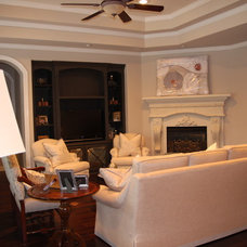 Traditional Family Room by Melanie King Designs