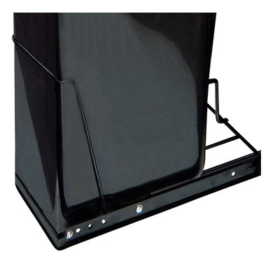 Hardware Resources - Cabinet Door Mounting Kit Black - Cabinet Door Mounting Kit (for wire single and double trash can systems sold separately).  Mounting Hardware and Instructions Included.