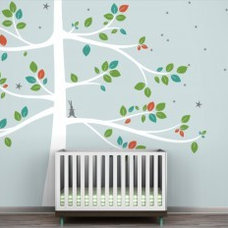 Littlelion Studio Follow the Little Rabbit Tree Extra Large Wall Decal - fawn&fo