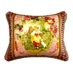 Metrohouse Designs - French Farmhouse Toile Pillow - The pillow is made with beautiful 100% cotton fabric by Richloom,