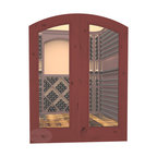 CellarSelect™ Wine Cellar Door: French Bordeaux (Cherry Stain with Lacquer) - Showcase the unique beauty of your wine cellar with French Bordeaux arched doors. Features impressive eyebrow arched design, solid jamb and decorative casings. Exterior grade components like insulated low-E glass help seal your cellar and keep your wine at ideal temps. Hand made in the USA.