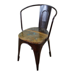 Rustic Iron with Wood Seat Dining Chair - Rustic Iron with Wood Seat Dining Chair! This is a very unique rustic dining chair that will compliment any Spanish colonial, hacienda, southwest, or rustic Mexican decor. Ready for commercial use..  This item is available for order. Please allow 8-16 weeks for personal production. Call for details.