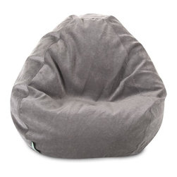 Majestic Home Goods - Villa Vintage Small Classic Bean Bag - A great addition to any family room or playroom, the Majestic Home Goods Villa small bean bag allows your child to read or watch a favorite show in the utmost comfort. This beanbag is generously filled with eco-friendly polystyrene beads and features a removable zippered slipcover. Spot clean slipcover and hang dy. Do not wash insert. Woven from 100% polyester Micro-velvet, these beanbags are durable yet comfortable.