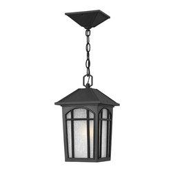 Hinkley Lighting - Hinkley Lighting 1982BK-GU24 Cedar Hill Black Outdoor Hanging Lantern - Hinkley Lighting 1982BK-GU24 Cedar Hill Black Outdoor Hanging Lantern
