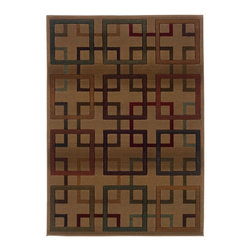 """Oriental Weavers - Transitional Genesis Hallway Runner 2'3""""x7'6"""" Runner Beige-Brown Area Rug - The Genesis area rug Collection offers an affordable assortment of Transitional stylings. Genesis features a blend of natural Beige-Brown color. Machine Made of Polypropylene the Genesis Collection is an intriguing compliment to any decor."""
