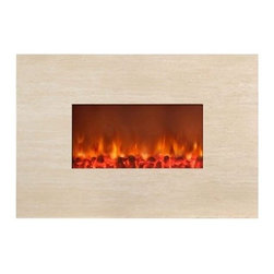 Yosemite Home Decor Adobe 38 Wall Mount Electric Fireplace - Add designer style to your wall with the Yosemite Home Decor Adobe 38 Wall Mount Electric Fireplace. This electric fireplace features a polished beige, marble-like front that exudes modern sophistication and the faux charcoal and flames beautifully imitate a realistic fire. This fireplace doubles as an electric heater and features a remote control with smart dimmer.About Yosemite Home DecorYosemite Home Decor has set out to become the leader in lighting and unique home products. This company is based in the Central Valley of Fresno California and was founded in 1983. From premier lighting fixtures to modern fireplaces, bathroom vanities to fountains, Yosemite offers quality products guaranteed to beautifully transform your space.