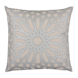 Chronus Silver Throw Pillow - Throw pillows are so easy to change to create any mood. We love the sophistication and shine of these so much that we think we'd keep them out all the time.