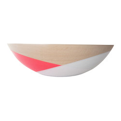 Wind & Willow Home - Wind & Willow Bowl, Pink, White - We can't decide whether this Wind & Willow bowl is more household item or work of modern art. Either way, it's going to get a big reaction from our dinner guests.