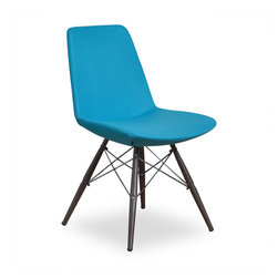 Inmod - Vino MDB Dining Chair (Set of 2), Turquoise Fabric - Functionality and comfort at its best! Crafted from injection molded polyurethane foam over an internal steel frame, the Vino MDB Dining Chair is not only stylish and functional but comfortable as well.