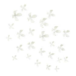 """Umbra - Umbra Wallflower Wall Decor, Set of 25 - Umbra Wallflower Wall decor, Set of 25, WhiteSet of 25 easy-to-hang wall decor flowersEach flower mounts to the wall with a simple snap-in tack for endless configurations; magnetic conversion kit also availableMolded polypropylene; available in black or white (opaque), pink, sky blue, or kiwi green (translucent)Five sizes of flowers ranging from 2.5"""" x 2.5"""" x 1"""" to 4.5"""" x 4.5"""" x 2.5""""Design: Marion LanktreeNeed more information on this product? Click here to ask."""