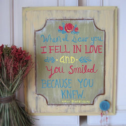 Urban Cottage Designs Products - because you knew sign