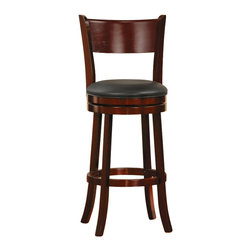 Homelegance - Homelegance Shapel Swivel Pub Chair in Cherry (Set of 2) - Homelegance - Bar Stools - 113629S - The transitional Shapel Collection adds the simple touch of style to your home's smaller dining or bar space that you've been looking for.