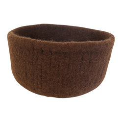 ecofirstart - Chestnut Felted Bowl - Got a warm and fuzzy feeling for felt? Then welcome it into your decor. This deep, versatile vessel — hand-knit from premium Peruvian wool before being felted — can hold everything from fruit to scarves, or have it fill in for your catch-all junk drawer.