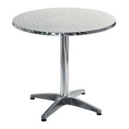 Eurostyle - Eurostyle Allan 27.5 Inch Dining Table w/ Stainless Top & Aluminum Base - 27.5 Inch Dining Table w/ Stainless Top & Aluminum Base belongs to Allan Collection by Eurostyle This Euro Style Allan Round Stainless Steel Dining Table is a classically dining sized table at 31.5 inches. Great for small gatherings. The stainless steel top with aluminum base, makes it extremely light and easy to clean and maintain. Versatile for both indoor and outoor use. Pair this table with a great set of chairs you can find in related items, and you've got a simple, elegant bistro set that will make any guest feel welcome. Dining Table (1)