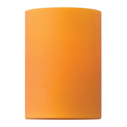 """Fredrick Ramond - Fredrick Ramond FR88033GL Caramel Cylinder Lighting Glass Shades - An accessory glass to the Vivo collection in a cylindrical shape, 4"""" in diameter and 5.5"""" in height, in Caramel."""