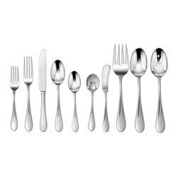 Cuisinart - Cuisinart Irais 45-piece Flatware Set - The Cuisinart Irais Flatware Set features 45 pieces in a straightforward and modern stainless steel design. With service for eight,the gorgeous set is conveniently dishwasher safe.