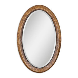 "Uttermost - Uttermost Capiz Vanity Mirror - Heavily antiqued dark capiz shell with metal rope details. Mirror has a generous 1 1/4"" bevel."
