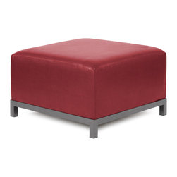 Howard Elliott - Howard Elliott Avanti Apple Axis Ottoman - Titanium Frame - Axis ottoman Avanti apple titanium frame