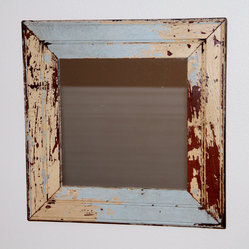 Reclaimed Wood Mirror by Restoration Harbor