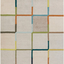 Surya - Surya Theory THY-5001 (Ivory, Grey) 8' x 11' Rug - This Hand Tufted rug would make a great addition to any room in the house. The plush feel and durability of this rug will make it a must for your home. Free Shipping - Quick Delivery - Satisfaction Guaranteed