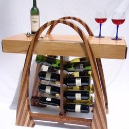 Curvy Wine Rack by John Rose -