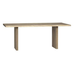 """Dakota 77"""" Dining Table - This European white oak table seats up to six and matches well with wood floors and a variety of colors."""