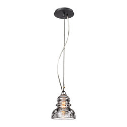 Troy Lighting - Troy Lighting Menlo Park Transitional Mini Pendant Light X-2313F - A classic design has been given a modern twist thanks to a blend of traditional and subtle industrial styling on this Troy Lighting mini pendant light. From the Menlo Park Collection, it features a clean Old Silver finish paired with a historic pressed clear glass that pulls the look together.