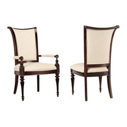 Hooker Furniture - Upholstered Armchair, Set of 2 - Pull up a chair and get cozy. Be prepared for your guests to do just that when they sink into these lovely upholstered chairs at your dining room table. Have plenty of wine on hand as your dinner may last a lot longer than you planned.