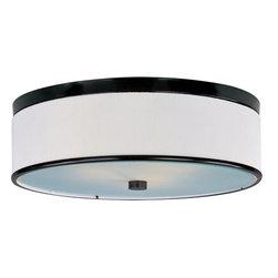 ET2 - ET2 E95104-102 Elements 3-Bulb Flush Mount Indoor Ceiling Fixture - Fabric Shade - Product Features: