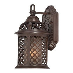"""The Great Outdoors - The Great Outdoors 72361-171 1 Light 11.75"""" Height Outdoor Wall Sconce from the - Single Light 11.75"""" Height Outdoor Wall Sconce from the Las Brisas CollectionFeatures:"""