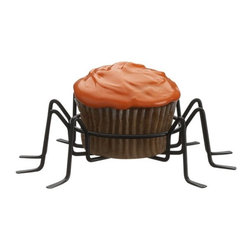 Spider Cupcake Holders, Set of 6 - Display your Halloween cupcakes with flair. These spider cupcake holders add a little spooky to your Halloween party. I bet some of these would walk away!